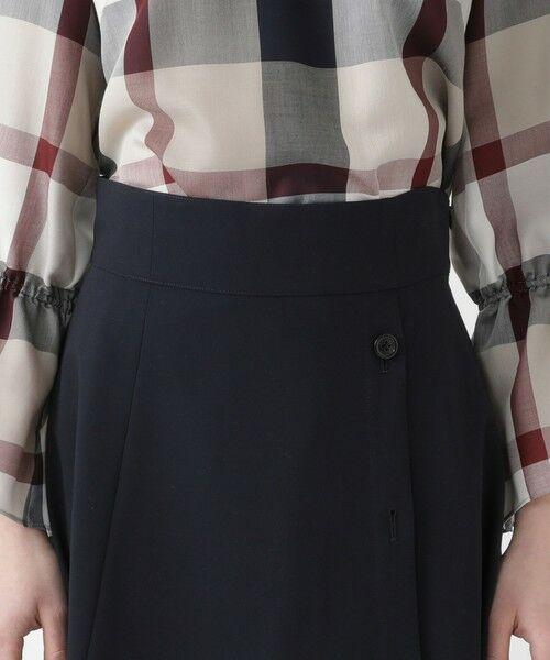 BLUE LABEL / BLACK LABEL CRESTBRIDGE / ブルーレーベル / ブラックレーベル・クレストブリッジ  ミニ・ひざ丈スカート | ソフトドライギャバ フレアスカート | 詳細4