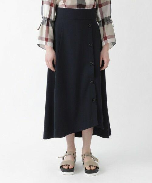 BLUE LABEL / BLACK LABEL CRESTBRIDGE / ブルーレーベル / ブラックレーベル・クレストブリッジ  ミニ・ひざ丈スカート | ソフトドライギャバ フレアスカート | 詳細6