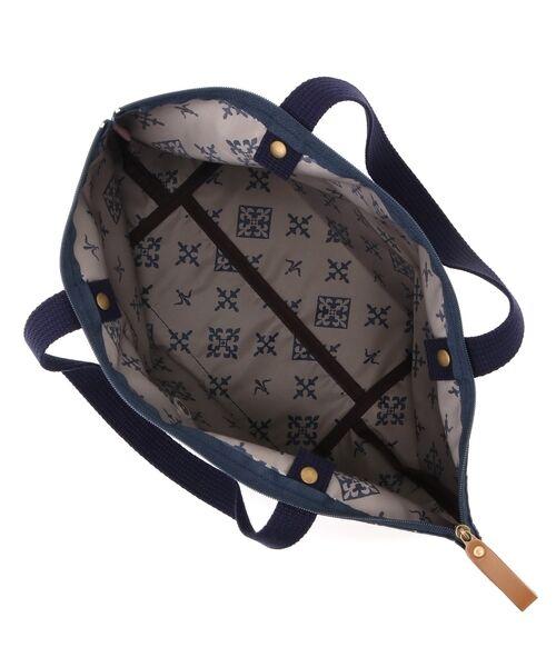 Daily russet / デイリーラシット トートバッグ | 【NEWジャガード】ポケット付きトートバッグ(小) | 詳細1