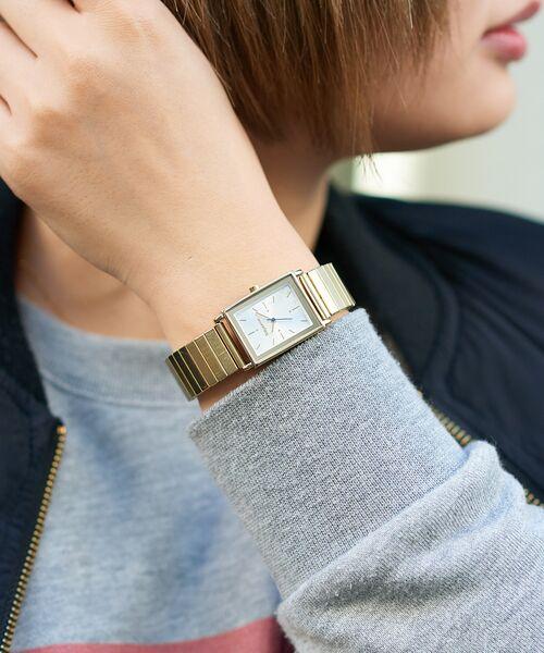 Daily russet / デイリーラシット 腕時計 | ジャバラスクエアウォッチ/腕時計(ゴールド)