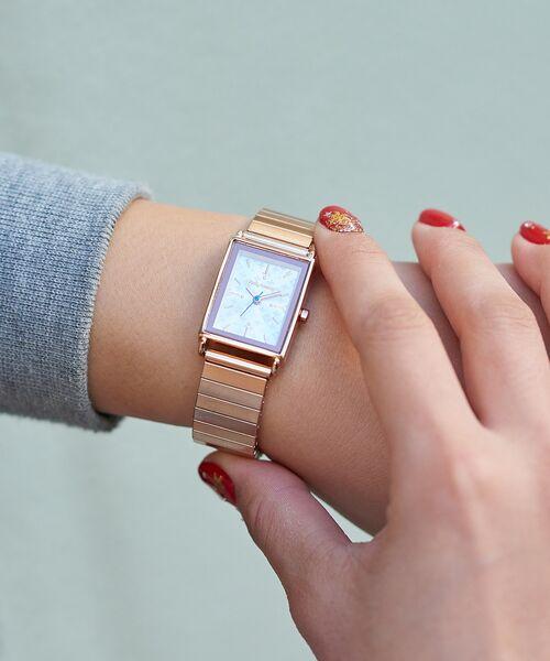 Daily russet / デイリーラシット 腕時計 | ジャバラスクエアウォッチ/腕時計(ピンク)