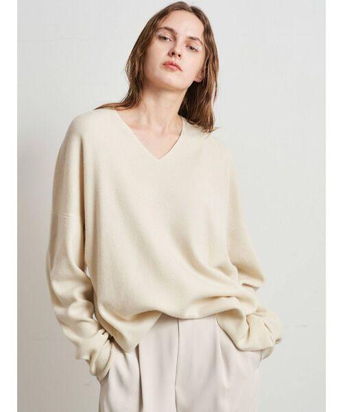 DENIM STYLE LAB / デニムスタイルラボ ニット・セーター   ニット(オフホワイト)