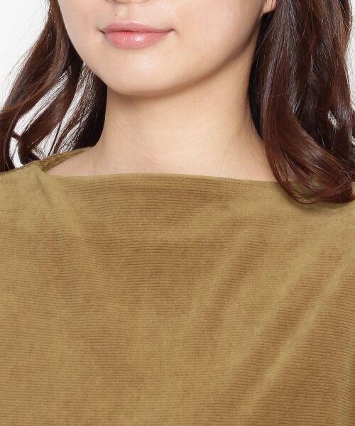 Dessin / デッサン カットソー   ボトルネックベロアプルオーバー   詳細4