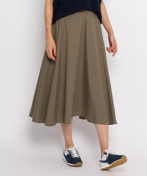 【洗える】【ウエスト後ろゴム】タイプライタースカート