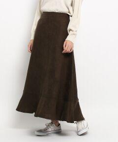 【洗える】フェイクスエードマキシスカート