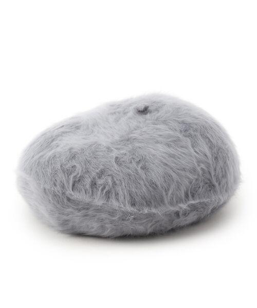 Dessin / デッサン ハンチング・キャスケット・ベレー帽 | Rebecca ファーベレー帽(グレー(012))