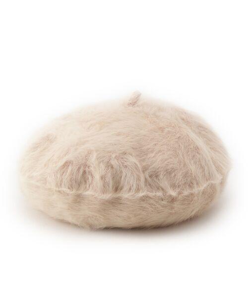 Dessin / デッサン ハンチング・キャスケット・ベレー帽 | Rebecca ファーベレー帽(ピンク系(070))