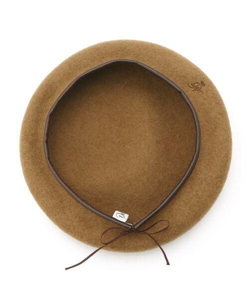Dessin / デッサン ハンチング・キャスケット・ベレー帽 | リアルレザーコンビベレー帽 | 詳細2