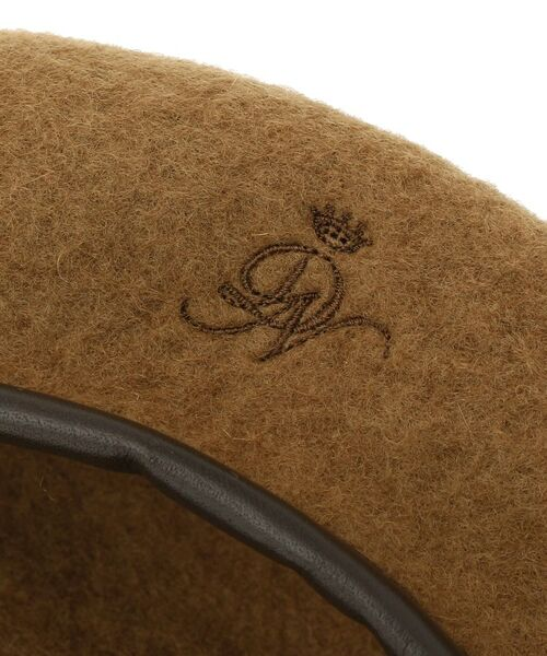 Dessin / デッサン ハンチング・キャスケット・ベレー帽 | リアルレザーコンビベレー帽 | 詳細3