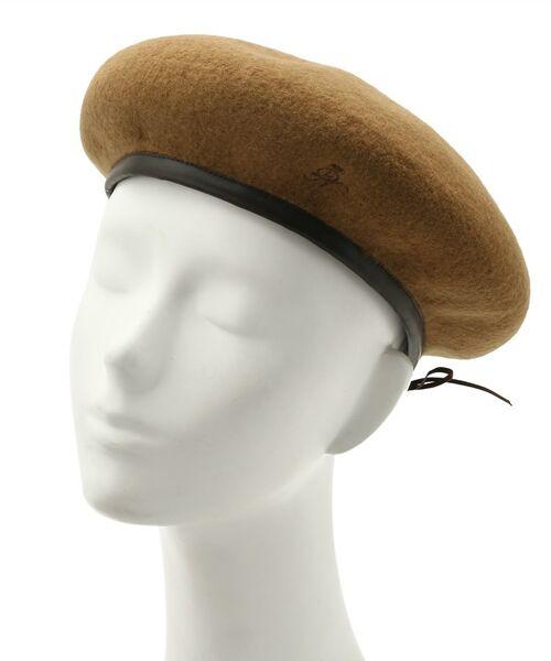 Dessin / デッサン ハンチング・キャスケット・ベレー帽 | リアルレザーコンビベレー帽 | 詳細4