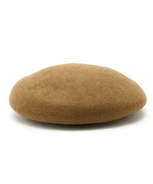 Dessin / デッサン ハンチング・キャスケット・ベレー帽 | リアルレザーコンビベレー帽(タバコブラウン(054))