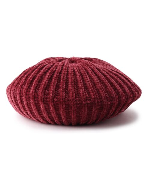 Dessin / デッサン ハンチング・キャスケット・ベレー帽 | モール糸リブニットベレー帽 | 詳細1