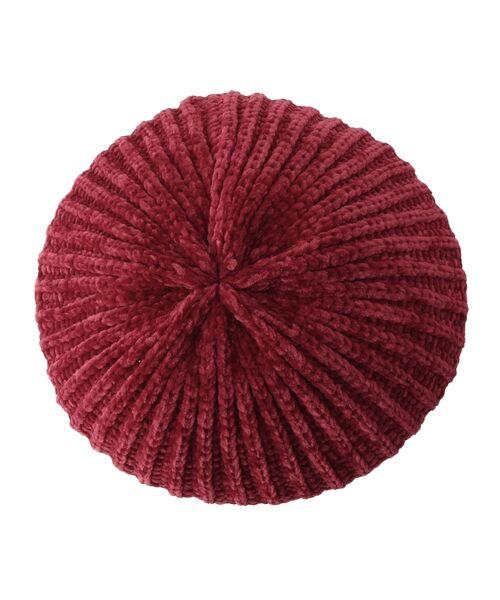 Dessin / デッサン ハンチング・キャスケット・ベレー帽 | モール糸リブニットベレー帽 | 詳細2