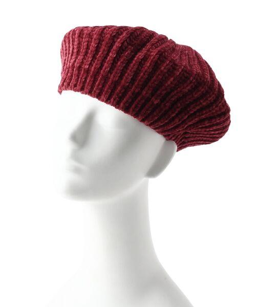 Dessin / デッサン ハンチング・キャスケット・ベレー帽 | モール糸リブニットベレー帽 | 詳細5