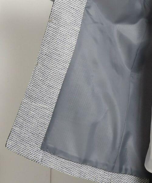 Dessin / デッサン セットアップ | 【ママスーツ/入学式 スーツ/卒業式 スーツ S~Lサイズあり】ツイードノーカラーミドル丈ジャケット | 詳細10