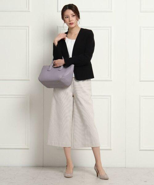 Dessin / デッサン セットアップ | 【ママスーツ/入学式 スーツ/卒業式 スーツ S~Lサイズあり】リップルポンチワイドパンツ | 詳細10
