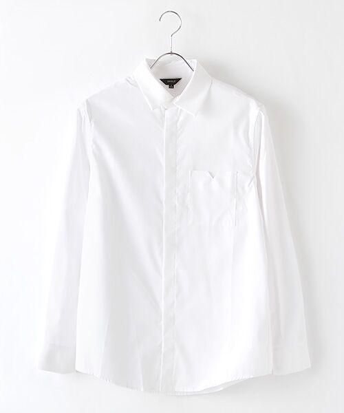 DGBH / ディージービーエイチ シャツ・ブラウス | メンズ・コットンドレスシャツ(ホワイト)