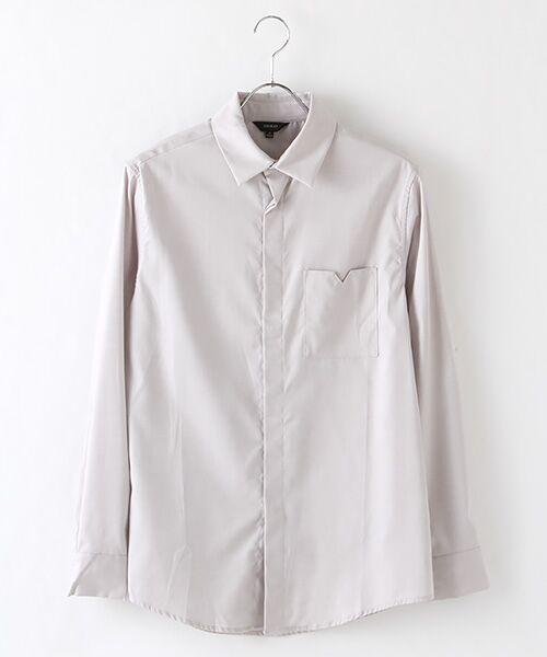 DGBH / ディージービーエイチ シャツ・ブラウス | メンズ・コットンドレスシャツ(ホワイトグレー)