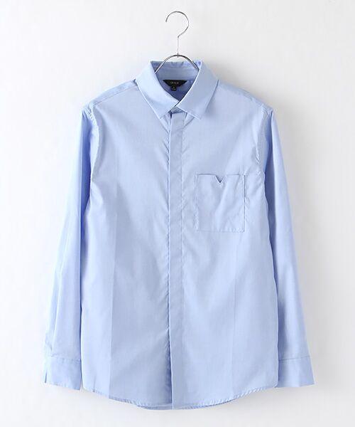 DGBH / ディージービーエイチ シャツ・ブラウス | メンズ・コットンドレスシャツ(スカイブルー)