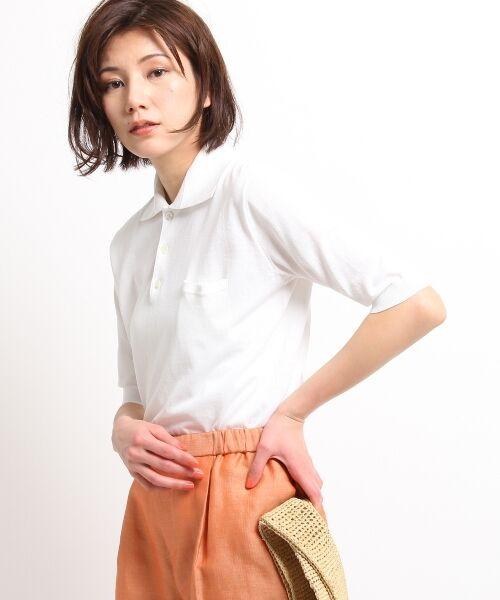 DRESSTERIOR / ドレステリア ポロシャツ | ◆seya. コットンドライタッチポロシャツ(アイボリー(004))