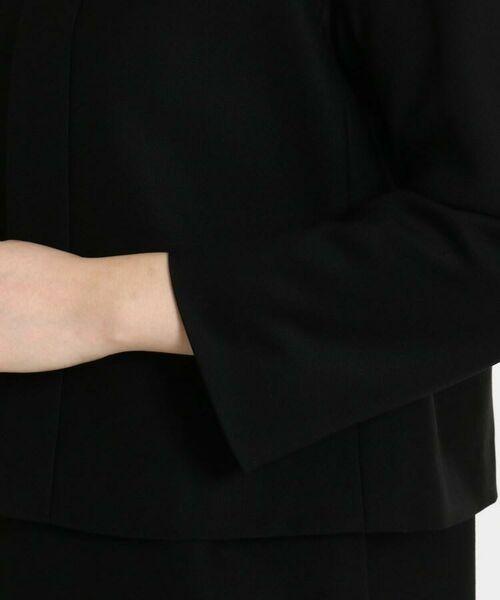 DRESSTERIOR / ドレステリア セットアップ | 【入卒・セットアップ可】フォーマルブラック ノーカラージャケット | 詳細10