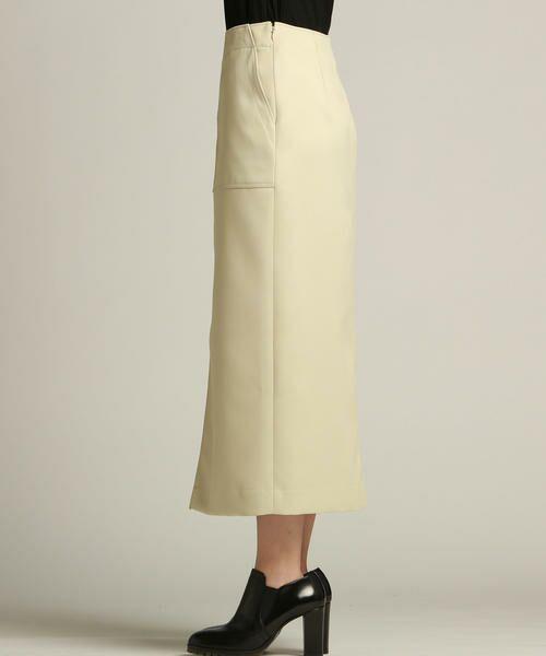 Droite lautreamont / ドロワットロートレアモン スカート | 【雑誌掲載】レザーライクサテンスカート | 詳細1