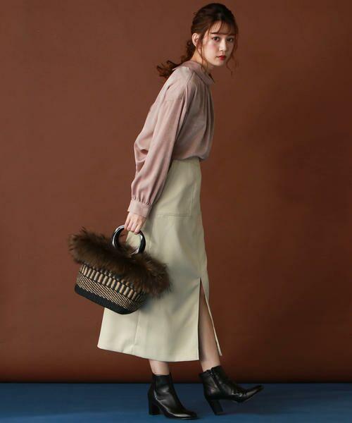 Droite lautreamont / ドロワットロートレアモン スカート | 【雑誌掲載】レザーライクサテンスカート | 詳細8