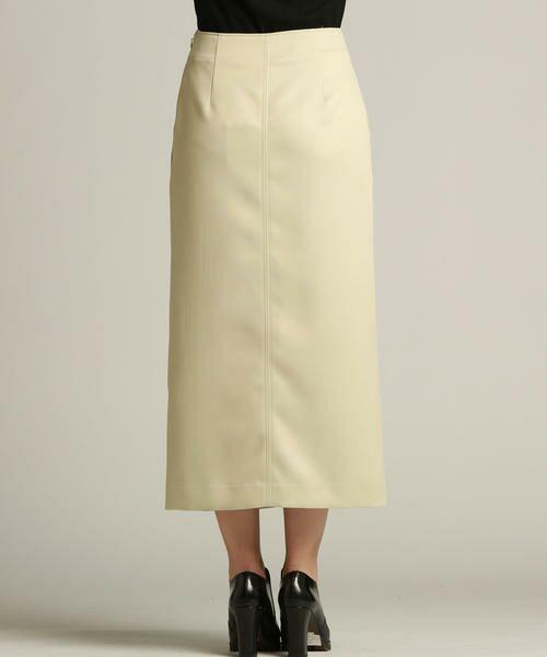 Droite lautreamont / ドロワットロートレアモン スカート | 【雑誌掲載】レザーライクサテンスカート | 詳細2