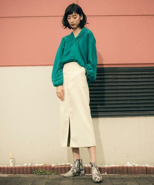 Droite lautreamont / ドロワットロートレアモン スカート | 【雑誌掲載】レザーライクサテンスカート | 詳細6