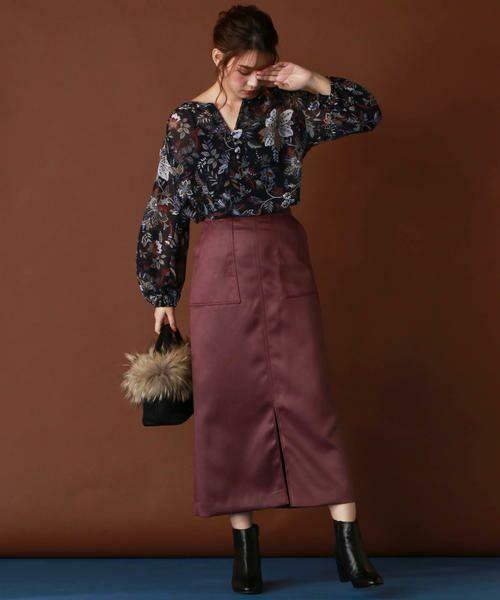 Droite lautreamont / ドロワットロートレアモン スカート | 【雑誌掲載】レザーライクサテンスカート | 詳細15