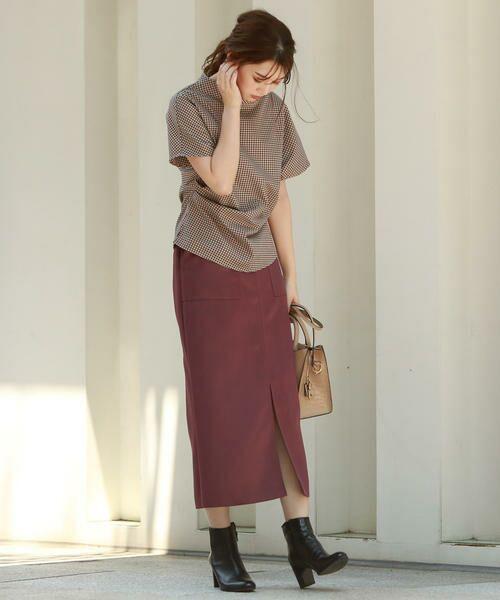 Droite lautreamont / ドロワットロートレアモン スカート | 【雑誌掲載】レザーライクサテンスカート | 詳細11