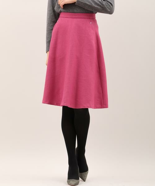 ef-de / エフデ ミニ・ひざ丈スカート | サイドビジューアクセントスカート | 詳細1