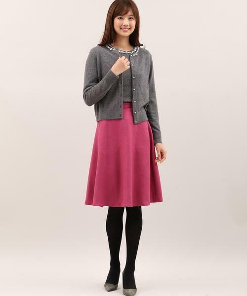 ef-de / エフデ ミニ・ひざ丈スカート | サイドビジューアクセントスカート | 詳細8