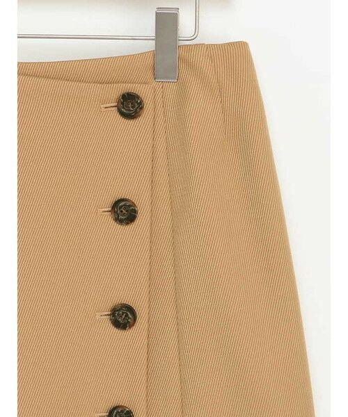 ensuite(大きいサイズ) / エンスウィート(おおきいサイズ) ミニ・ひざ丈スカート | 【エンスウィート】ラップ風ボタンスカート | 詳細4