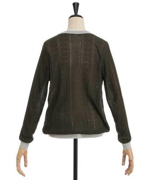 ensuite / エンスウィート ニット・セーター | ラメ糸使用透かし編み柄ニット | 詳細2