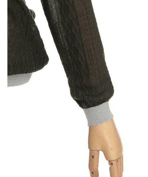 ensuite / エンスウィート ニット・セーター | ラメ糸使用透かし編み柄ニット | 詳細4