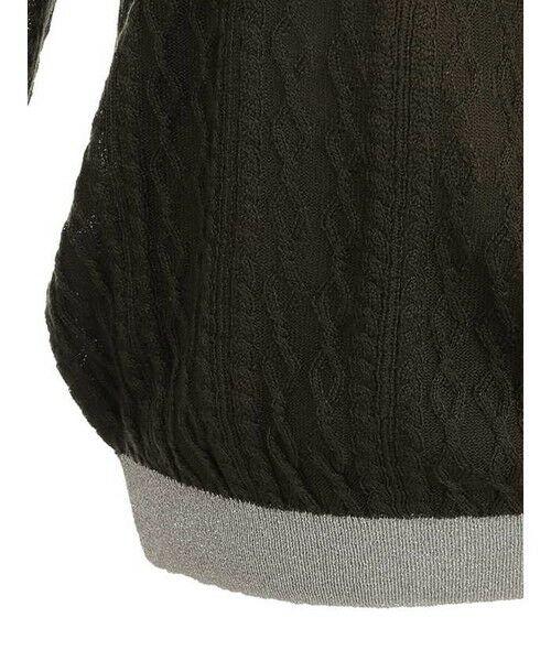 ensuite / エンスウィート ニット・セーター | ラメ糸使用透かし編み柄ニット | 詳細5