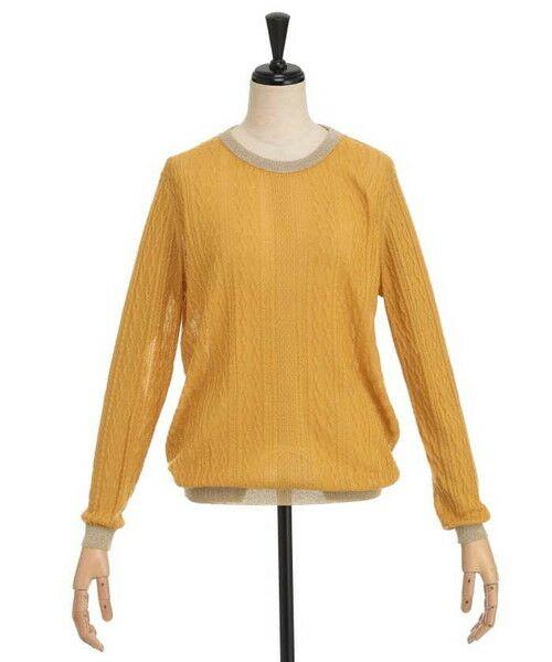 ensuite / エンスウィート ニット・セーター | ラメ糸使用透かし編み柄ニット(フリージア)