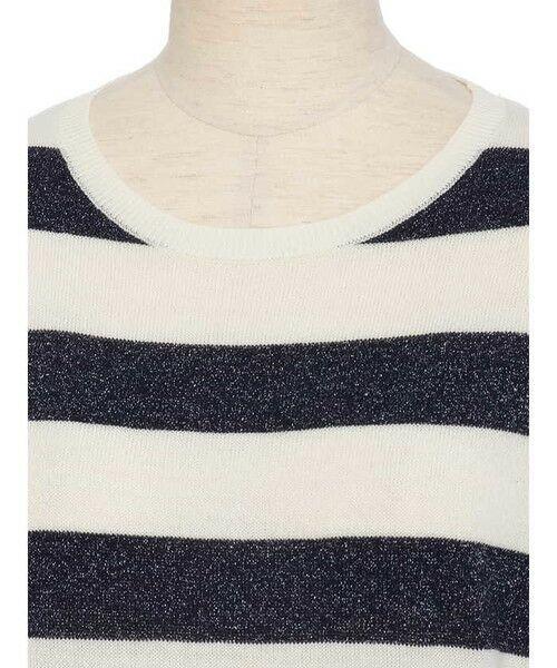 ensuite / エンスウィート ニット・セーター | プレーティング編みボーダーニット | 詳細3
