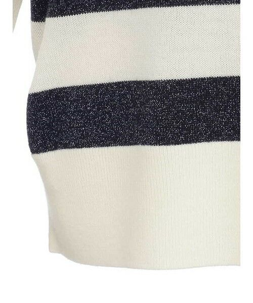 ensuite / エンスウィート ニット・セーター | プレーティング編みボーダーニット | 詳細5