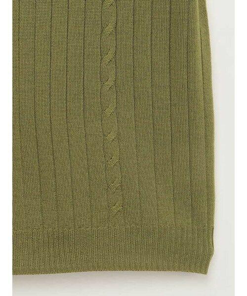 ensuite / エンスウィート ニット・セーター | 【イタリア糸使用】HARMONY ボートネックワイドリブプルオーバー | 詳細5