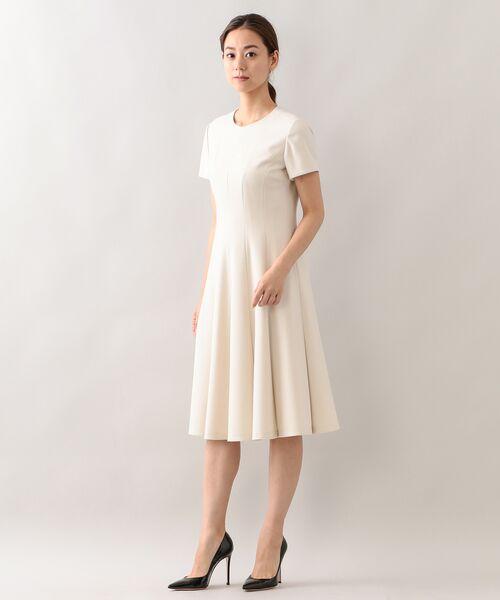 EPOCA / エポカ ロング・マキシ丈ワンピース | エアーフラノ ドレス(オフホワイト1)
