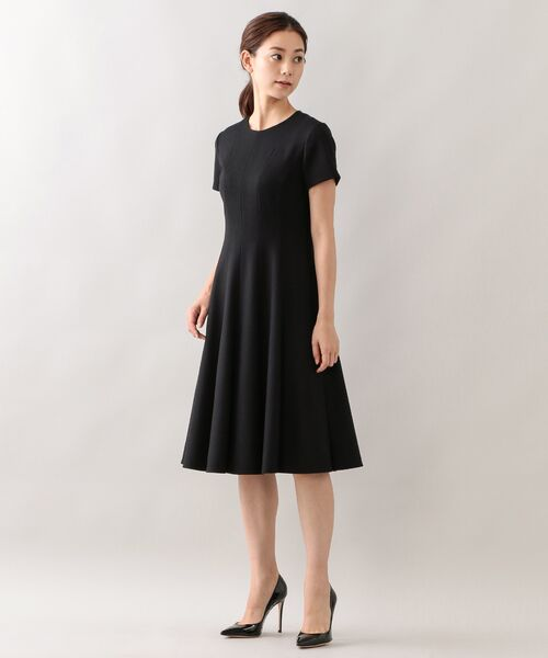 EPOCA / エポカ ロング・マキシ丈ワンピース | エアーフラノ ドレス(ブラック1)