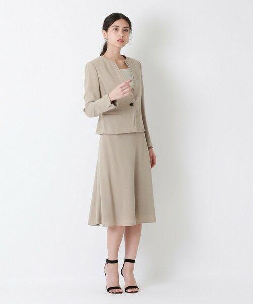 EPOCA / エポカ ロング・マキシ丈スカート | ストレッチクロス セミフレアスカート | 詳細3