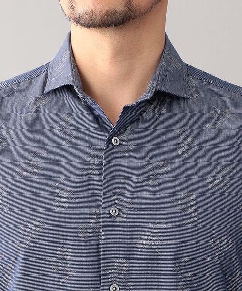 EPOCA UOMO / エポカ ウォモ シャツ・ブラウス   コードフラワー ホリゾンタルカラーシャツ   詳細5