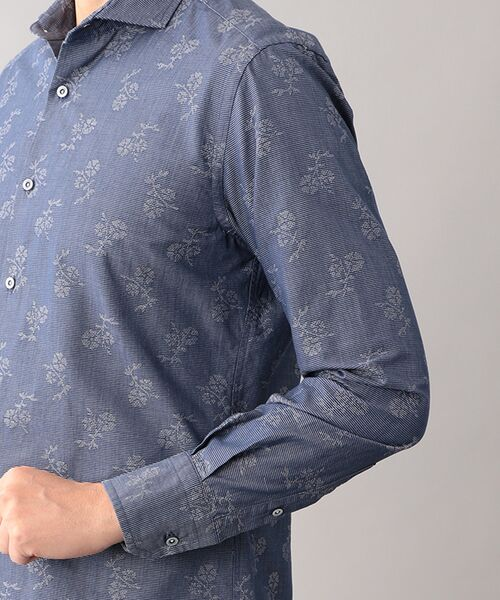 EPOCA UOMO / エポカ ウォモ シャツ・ブラウス   コードフラワー ホリゾンタルカラーシャツ   詳細6