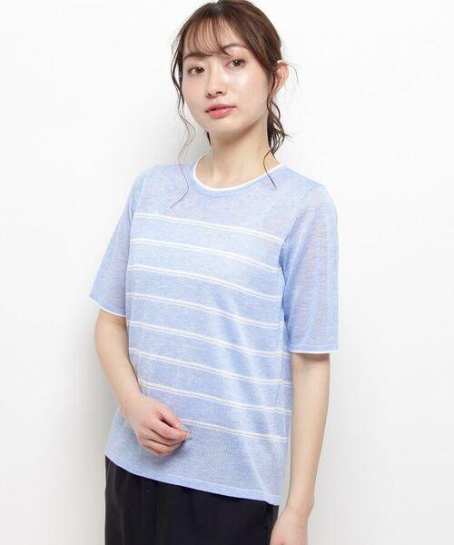 esche / エッシュ ニット・セーター | サマーニットプルオーバー(サックス(390))