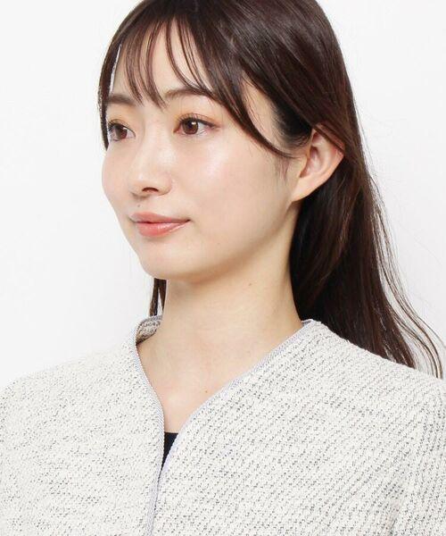 esche / エッシュ ノーカラージャケット   ラメ入りサマーツイードワンボタンジャケット   詳細4