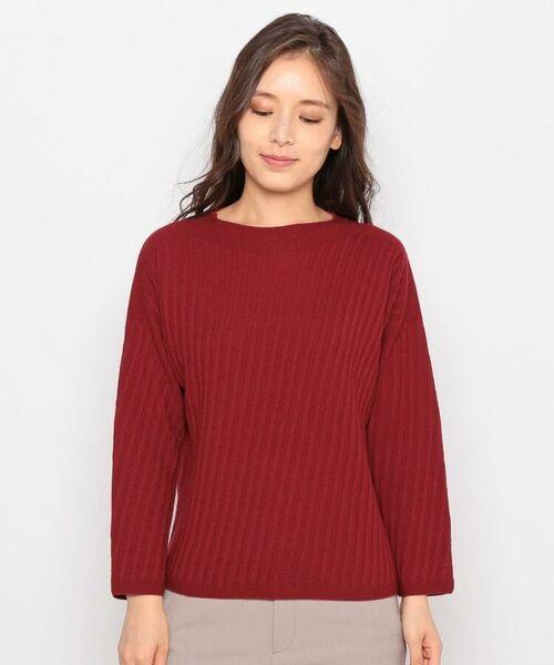 esche / エッシュ ニット・セーター | ホールガーメント(R)柄編みボートネックニット | 詳細1