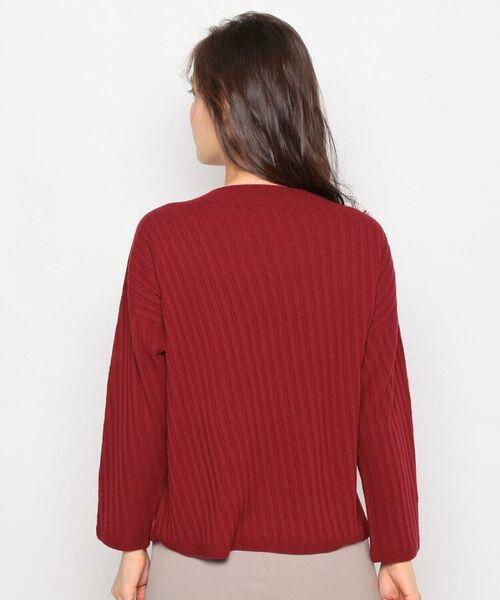 esche / エッシュ ニット・セーター | ホールガーメント(R)柄編みボートネックニット | 詳細3